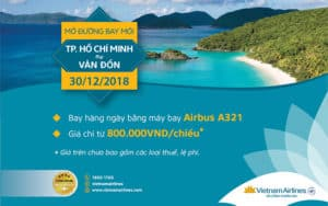 VIETNAM AIRLINES LAUNCHES VAN DON – HO CHI MINH CITY FLIGHT ROUTE