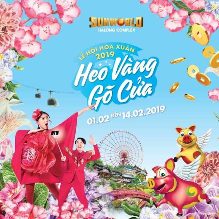 "Spring flower festival ""Golden Pig is coming to town"" from February 1, 2019"