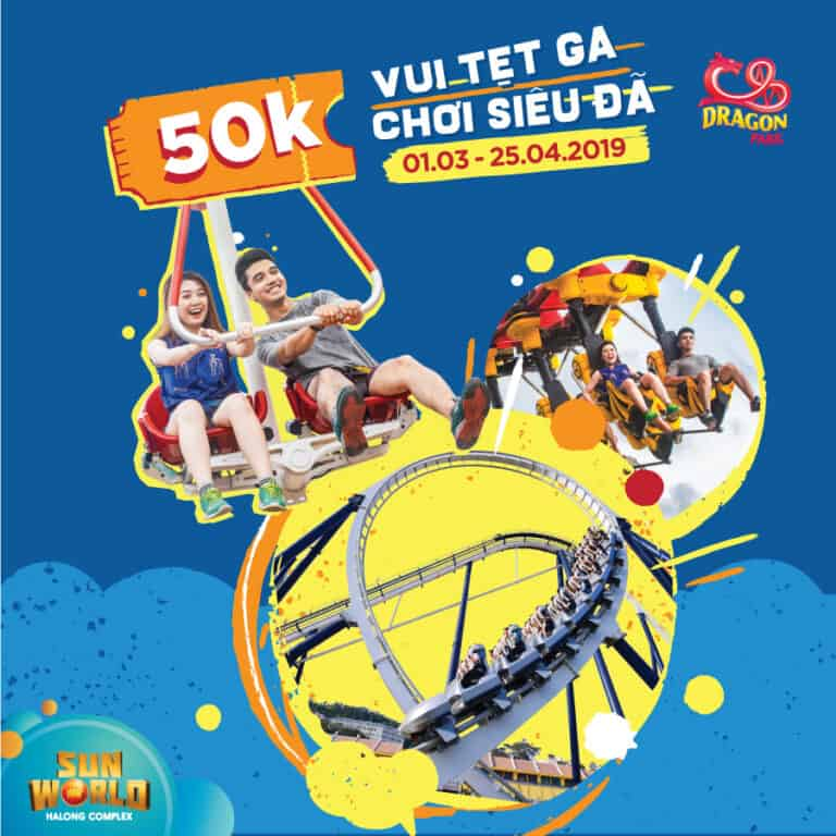 SUPER BONUS AT DRAGON PARK ON HUNG KING MEMORIAL DAY – JUST VND50,000 FOR ENTRY