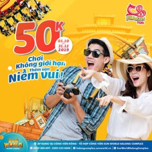 "More fun with our shocking promotion ""NO LIMITATION"" – Only 50k for Dragon Park"