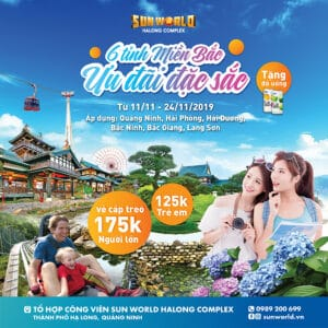 PREFERRED PRICE OF CABLE CAR TICKET + FREE DRINKS FOR 6 NORTHERN PROVINCES