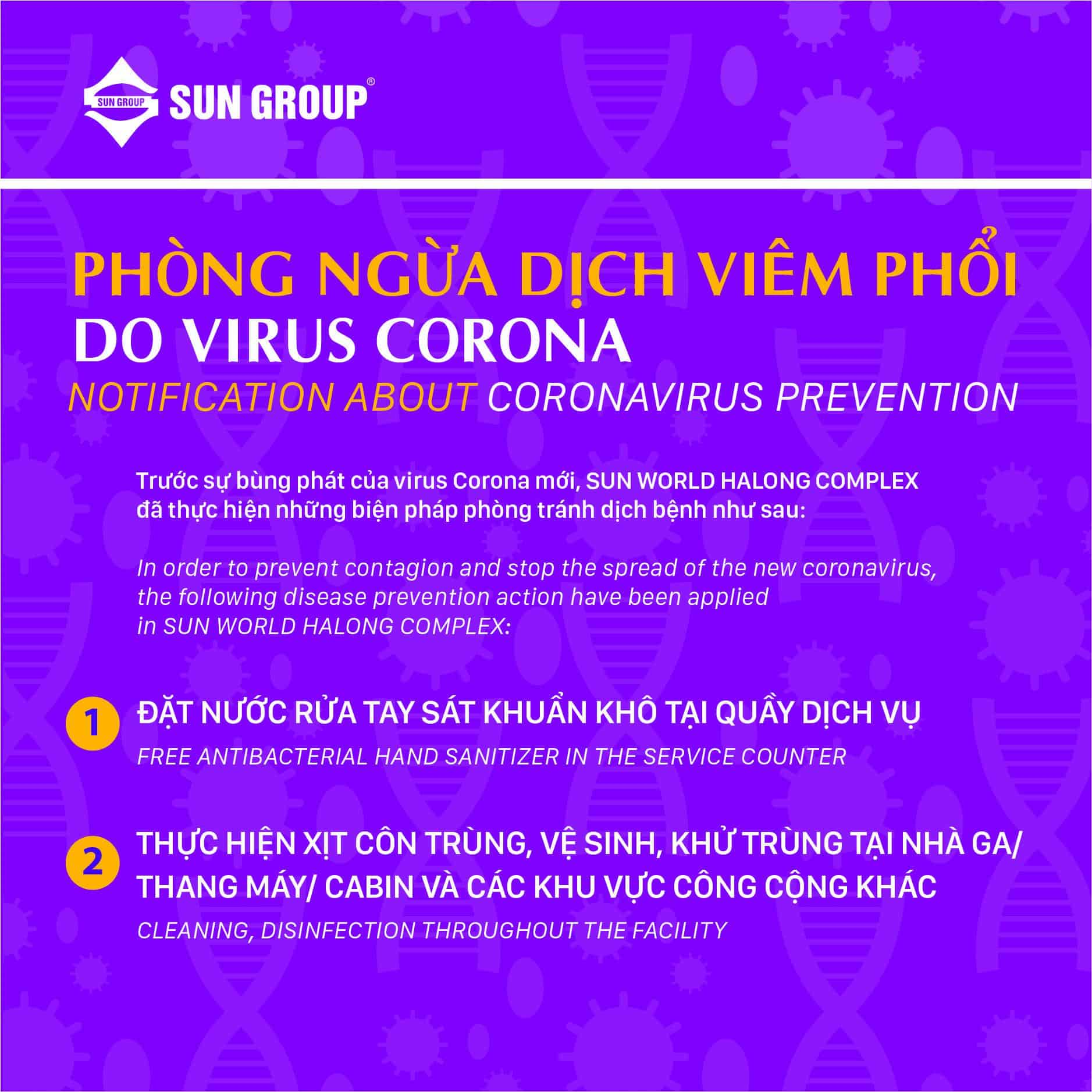NOTIFICATION: PREVENTING CORONA VIRUS PNEUMONIA